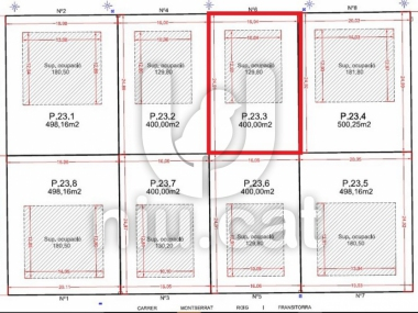 M16056 | Plot for sale in the pla de Montgat